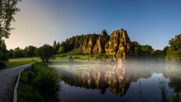 Foggy Lake and Externsteine